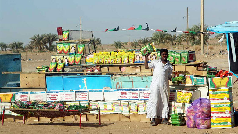 Roadside market in Sudan