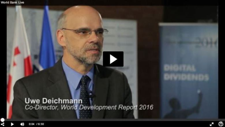 Interview with Uwe Deichmann: World Development Report 2016 presentation in Tbilisi