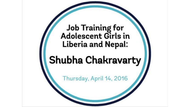 Job training for adolescent girls in Liberia and Nepal