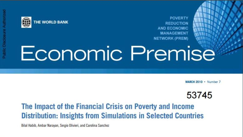 The impact of the financial crisis on poverty and income distribution