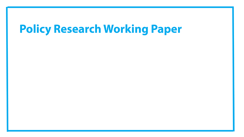 policy research working paper 6057. world bank The policy research working paper series disseminates the findings of works in progress to encourage the exchange of ideas get world bank elibrary content as it.
