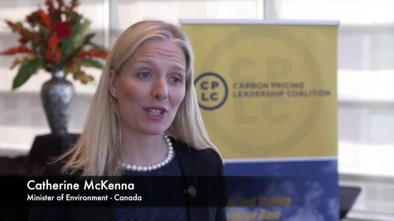Catherine McKenna, Minister of Environment, Canada talks about putting a price on carbon in jurisdictions across the country