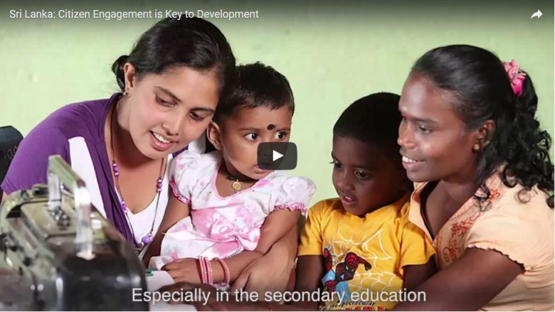 Sri Lanka: Citizen Engagement is Key to Development