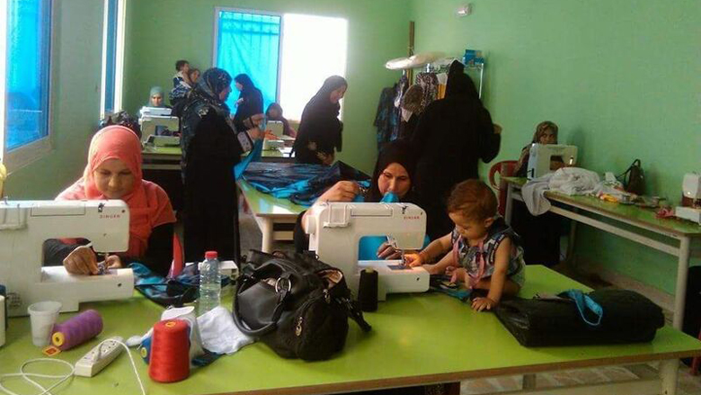 A new sewing workshop provided for by the ESSRP in Zaatari.