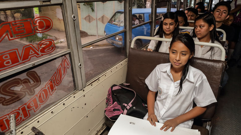 A school bus full of opportunities for children and youth in El Salvador