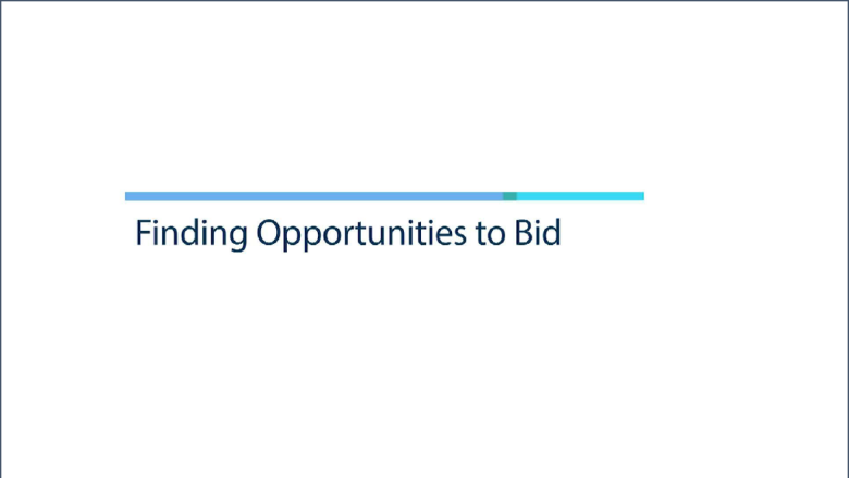Procurement opportunities for bidding