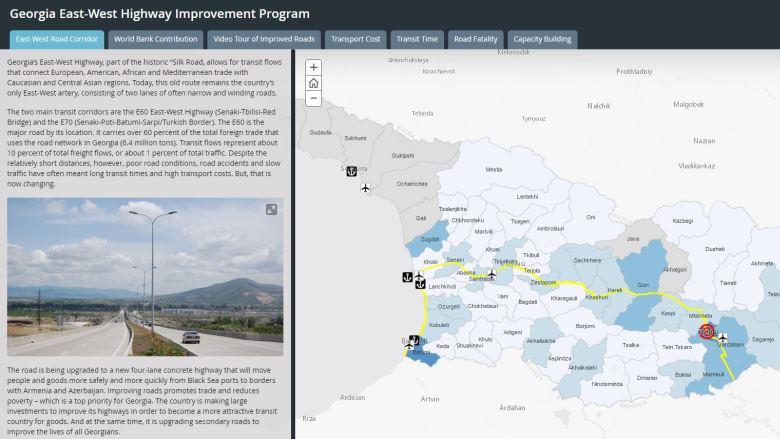 The World Bank In Georgia - Georgia map traffic