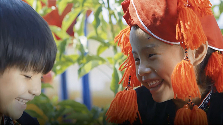 Vietnamese Ethnic Minority Kids Enjoy Pre-school Classes