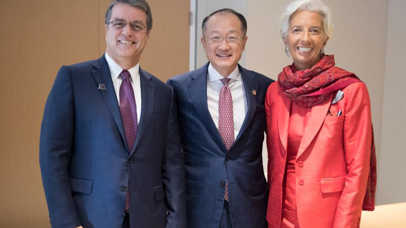 Roberto Azevedo, Jim Yong Kim and Christine Lagarde