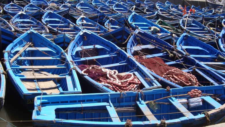 Fishing boats in the port of Essaouira, Morocco. Photo: Charlotte de Fontaubert/ World Bank