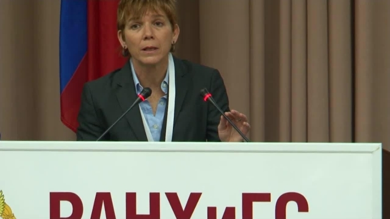 Ana Revenga at Gaidar Forum