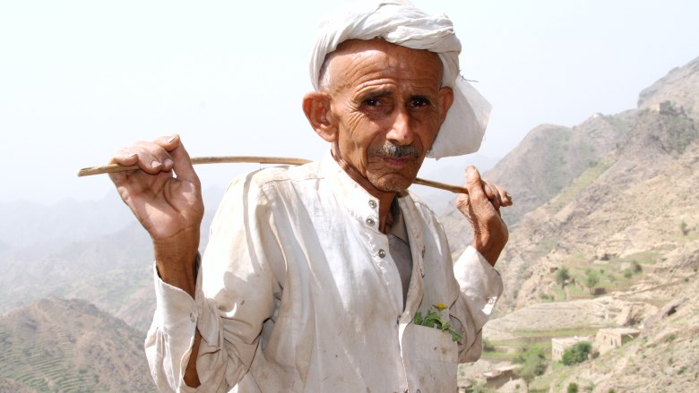 Old Yemeni man - Photo: Mohammed -Al amad | World Bank