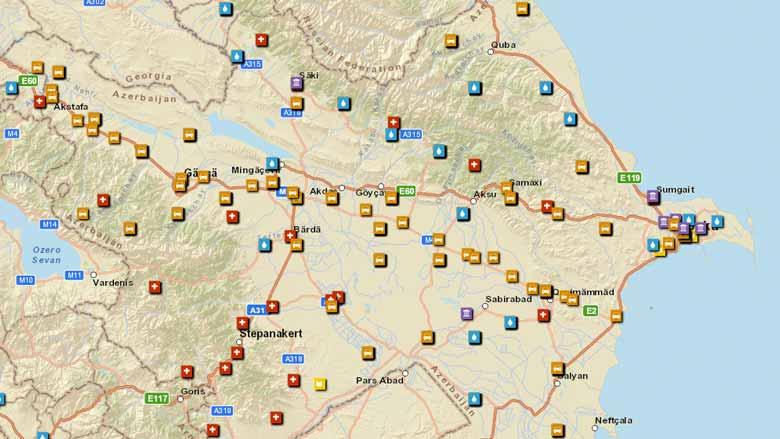 Azerbaijan Overview - Azerbaijan maps with countries