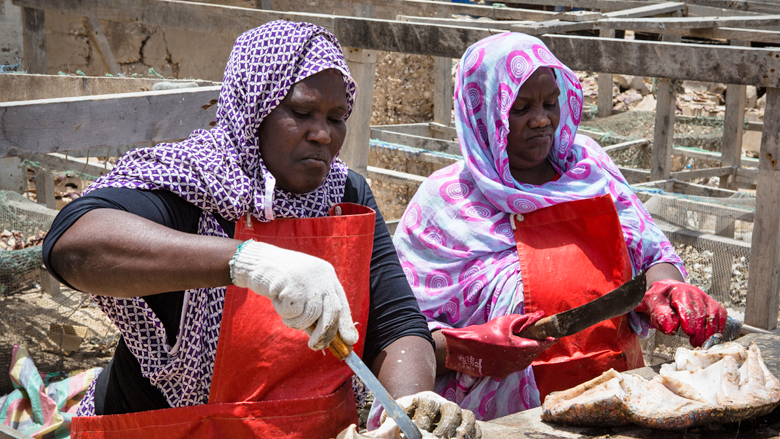 Supporting Women Fish Sellers in Mauritania