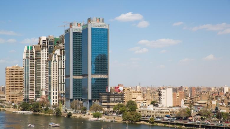 The 15th May bridge, the Nile river & the Corniche Street in central Cairo. Photo: FCerez/Shutterstock