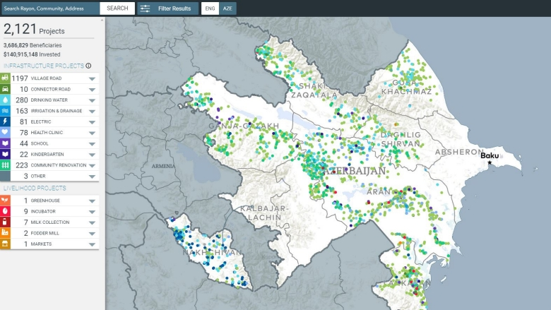 Azerbaijan rural investment project gis map rural investment projects map world bank gumiabroncs Gallery