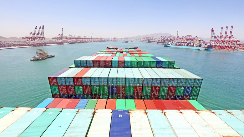 China Qingdao port container terminal