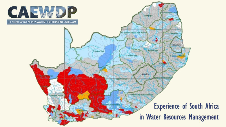 Map Of Asia Resources.Central Asia South Africa Exchange Of Experiences In Water