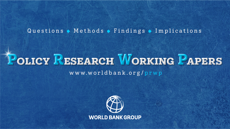 Policy Research Working Papers Branding Image