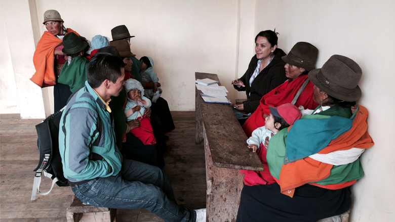 A pilot program that used text messages to relay information and encouragement to caregivers in an impoverished region of rural Ecuador significantly improved the nutrition and health of children.