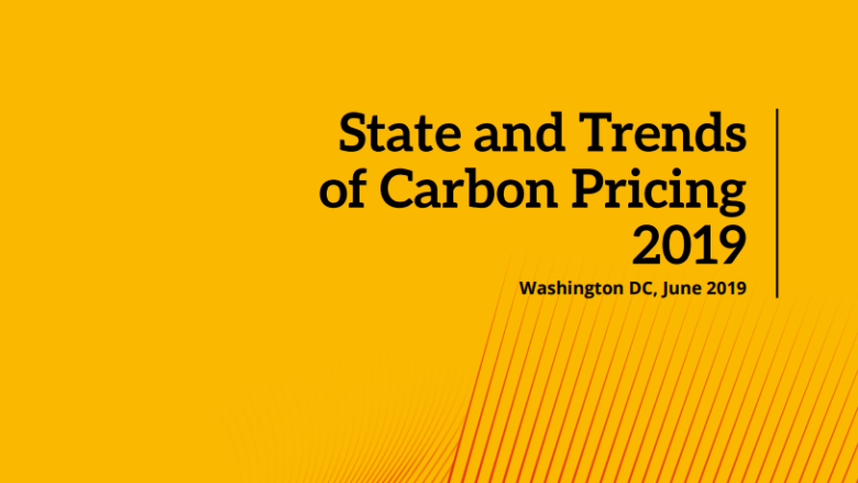 State and Trends of Carbon Pricing 2019