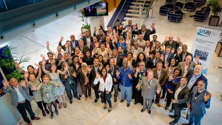 Participants at the Fourth SISRI Practitioners' Network Meeting in Geneva, Switzerland in May 2019 / Photo Credit: GFDRR