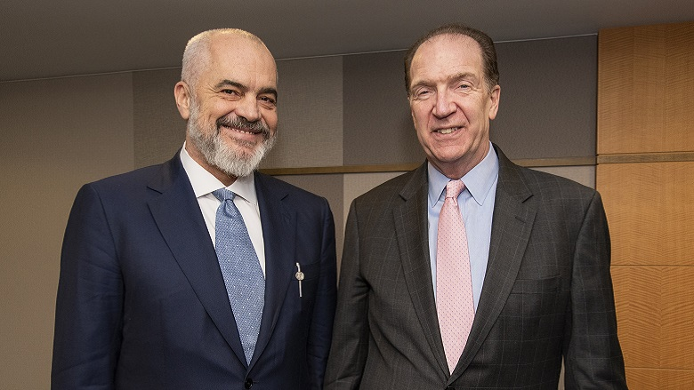 Minister of Albania Meeting with President David Malpass