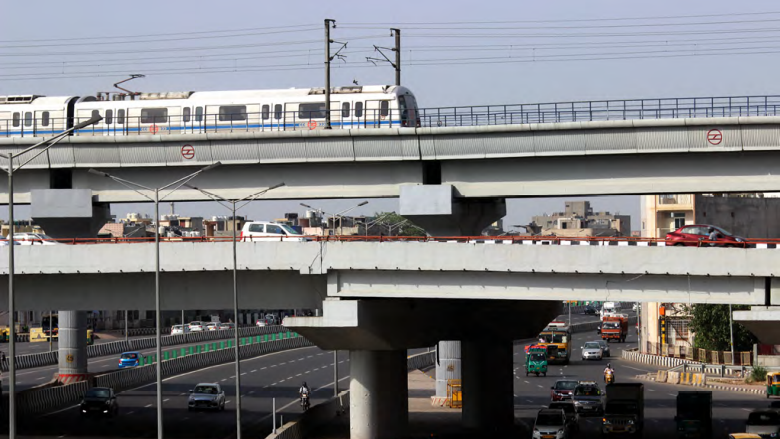 60% of the Delhi Metro system's daytime demand is met by solar power.