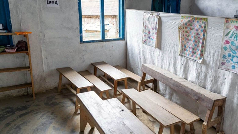 An empty classroom in India. Photo: © World Bank