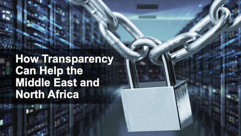 MENA Economic Update cover page for the April 2020 edition: How transparency can help the Middle East and North Africa.