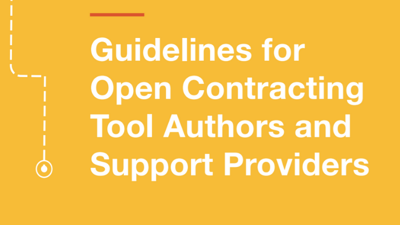 Open Contracting: Guidance graphic