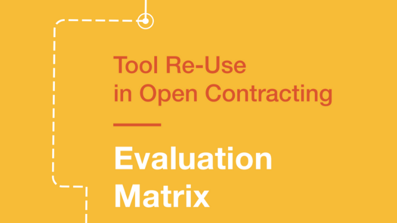 Open Contracting: Evaluation Matrix graphic