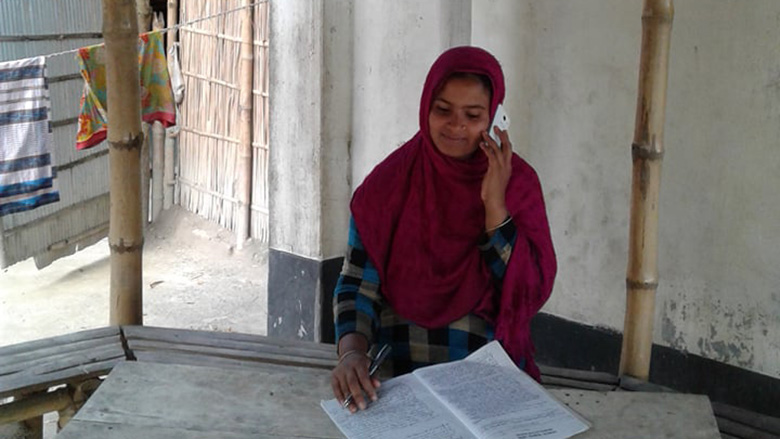 Salma Akhter runs a 'virtual call center', helping connect rural farmers with suppliers and buyers.