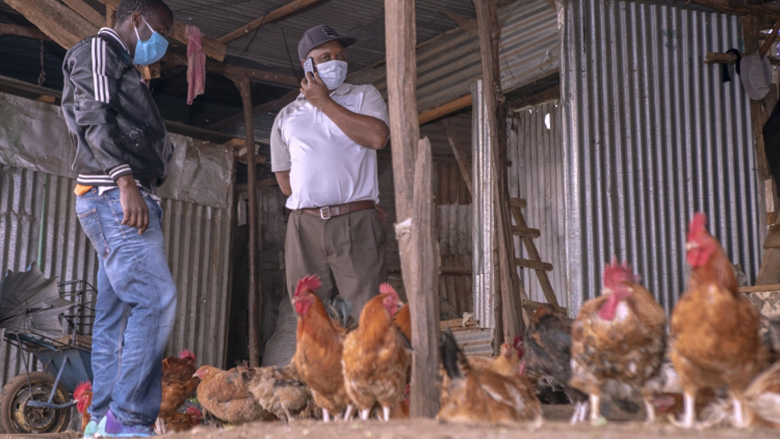 Poultry farmer in Kenya