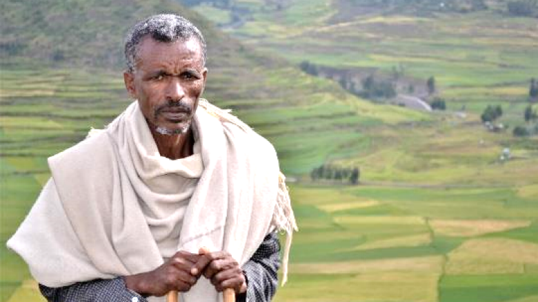 Mr Hailu Birnahu from Ethiopia with landscape background