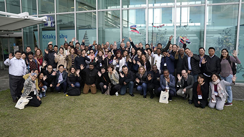 The participants of TDD visiting Kitakyushu, Japan for site visit
