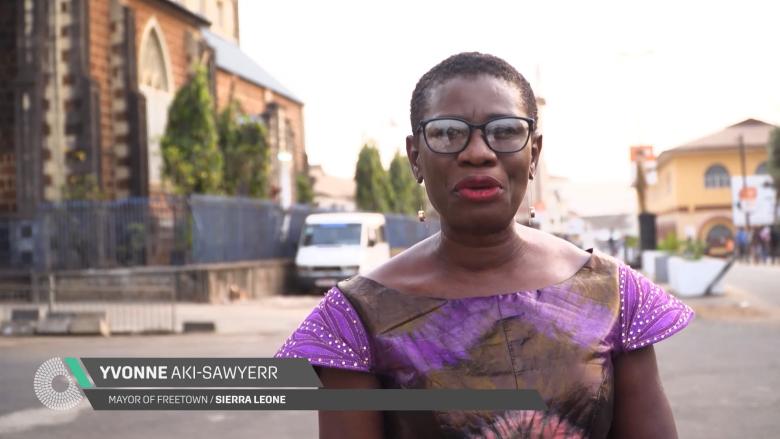 Yvonne Aki-Sawyerr, Mayor of Freetown, Sierra Leone, talks climate change and cities.