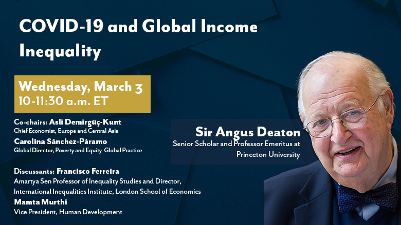 Poverty & Equity Seminars with Professor Sir Angus Deaton